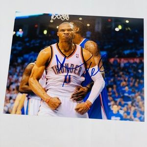 Signed Russell Westbrook photo